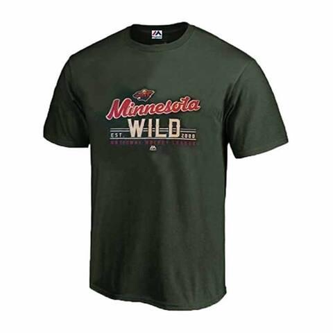 Majestic Minnesota Wild Intense Defense T Big and Tall - Green