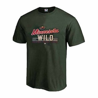 Majestic Minnesota Wild Intense Defense T Big and Tall - Green