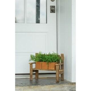 Rustic Reclaimed Tobacco Lath Board Small Garden Bench