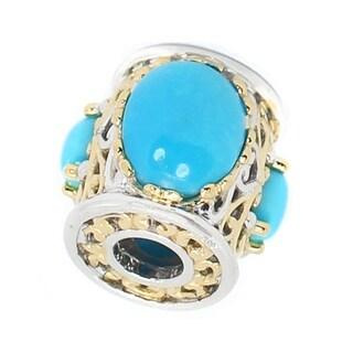 Michael Valitutti Palladium Silver Sleeping Beauty Turquoise Slide-on Charm - Blue