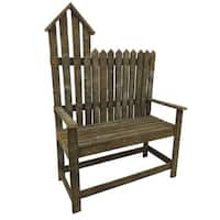 Rustic Reclaimed Tobacco Lath Board Birdhouse Bench