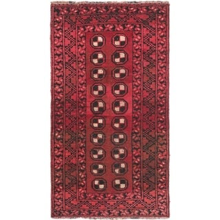 Hand Knotted Shiraz Semi Antique Wool Area Rug - 3' x 5' 6