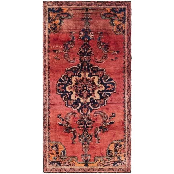 Hand Knotted Shiraz Semi Antique Wool Runner Rug - 3' 9 x 7' 8