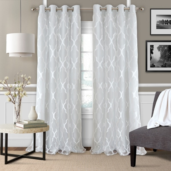 "Shop Elrene Bethany Single Window Curtain Panel 95"" L In"