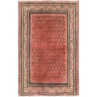 Hand Knotted Shiraz Semi Antique Wool Area Rug - 3' 9 x 5' 9