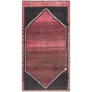 Hand Knotted Shiraz Semi Antique Wool Runner Rug - 4' 9 x 9' 5