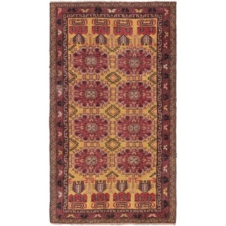Hand Knotted Shiraz Semi Antique Wool Area Rug - 4' 5 x 7' 8