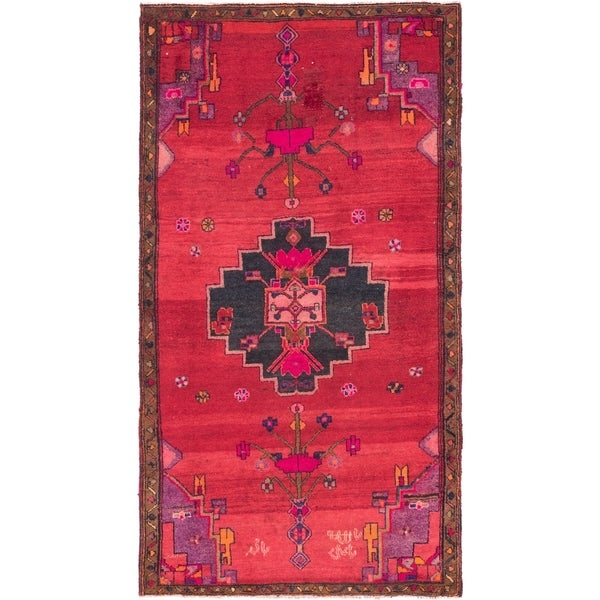 Hand Knotted Shiraz Semi Antique Wool Area Rug - 4' 6 x 8' 4