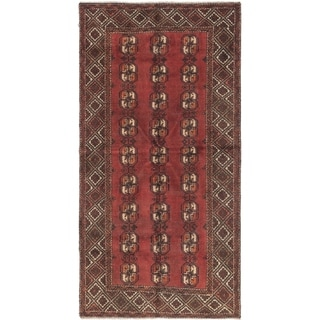 Hand Knotted Shiraz Antique Wool Area Rug - 3' 4 x 6' 7