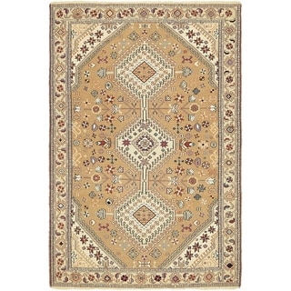 Hand Knotted Sirjan Wool Area Rug - 4' x 6'