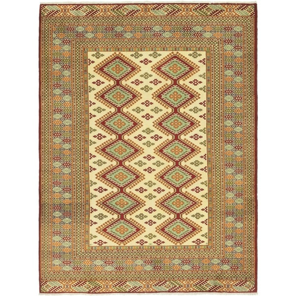 Hand Knotted Shirvan Wool Area Rug - 6' 9 x 9' 5