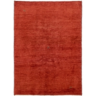 Hand Knotted Shiraz-Gabbeh Wool Area Rug - 4' 8 x 6' 4