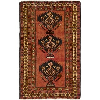 Hand Knotted Shiraz-Lori Semi Antique Wool Area Rug - 4' x 6' 10