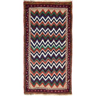 Hand Knotted Shiraz-Gabbeh Wool Area Rug - 3' 6 x 6' 5