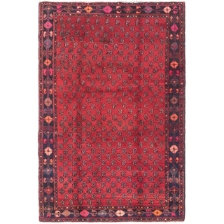 Hand Knotted Shiraz Semi Antique Wool Area Rug - 4' 6 x 7'