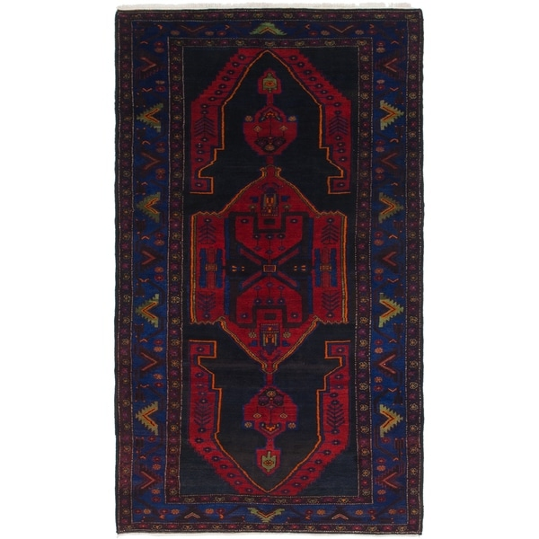 Hand Knotted Sirjan Semi Antique Wool Runner Rug - 5' 8 x 10' 7