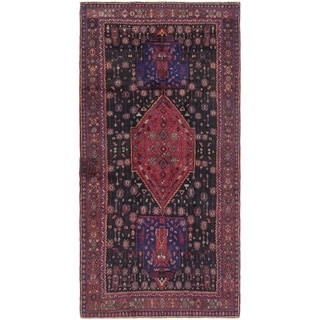 Hand Knotted Sirjan Semi Antique Wool Runner Rug - 5' x 10' 8