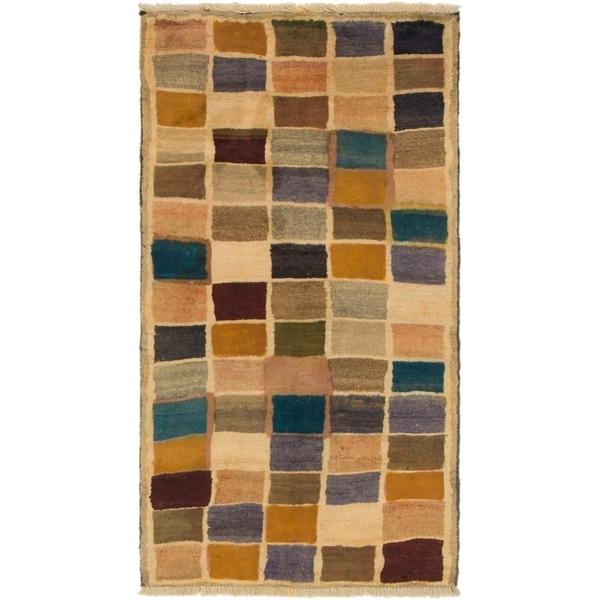 Hand Knotted Shiraz-Gabbeh Wool Area Rug - 2' 8 x 5'