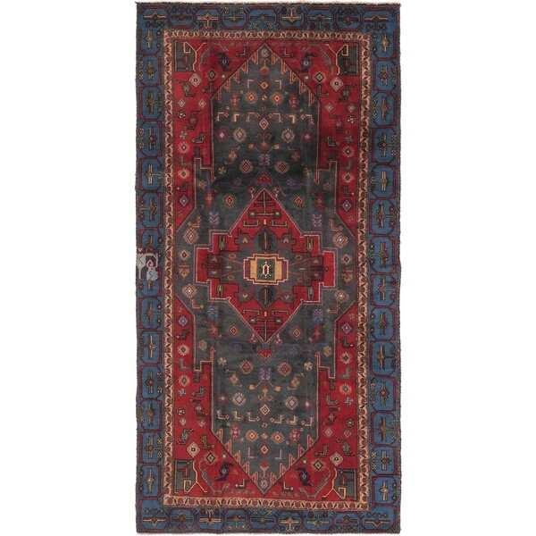 Hand Knotted Sirjan Semi Antique Wool Runner Rug - 4' 7 x 9' 5