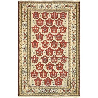 Hand Knotted Sirjan Wool Area Rug - 4' x 6' 3