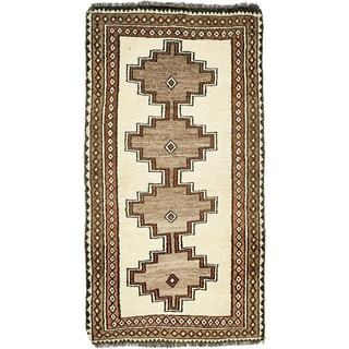 Hand Knotted Shiraz-Gabbeh Wool Area Rug - 3' 7 x 6' 5