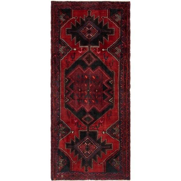 Hand Knotted Sirjan Wool Runner Rug - 4' x 9' 3