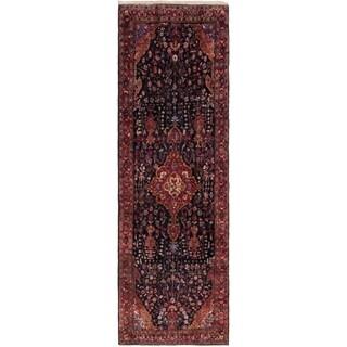 Hand Knotted Sirjan Antique Wool Runner Rug - 5' x 16'