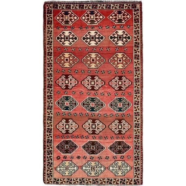 Hand Knotted Shiraz-Lori Semi Antique Wool Area Rug - 5' 3 x 9' 8