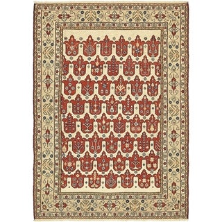 Hand Knotted Sirjan Wool Area Rug - 4' 3 x 6'