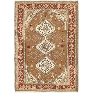 Hand Knotted Sirjan Wool Area Rug - 4' 5 x 6' 4
