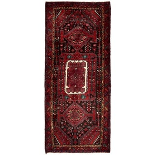 Hand Knotted Sirjan Semi Antique Wool Runner Rug - 4' 1 x 9' 9