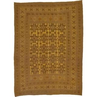 Hand Woven Sumak Wool Area Rug - 6' 5 x 8' 7