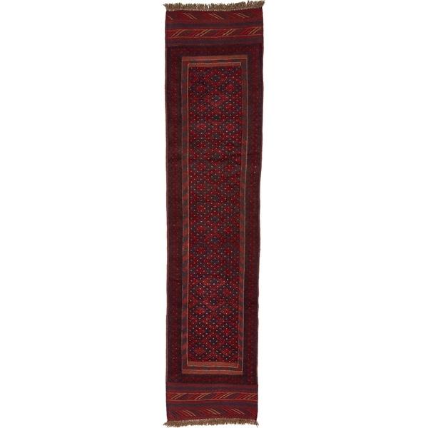 Hand Woven Sumak Wool Runner Rug - 2' x 8' 6
