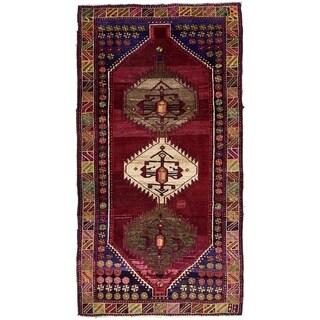 Hand Knotted Shiraz-Lori Semi Antique Wool Area Rug - 5' 1 x 9' 5