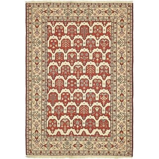 Hand Knotted Sirjan Wool Area Rug - 4' x 5' 8