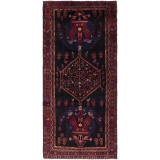 Hand Knotted Sirjan Semi Antique Wool Runner Rug - 4' 9 x 10' 7
