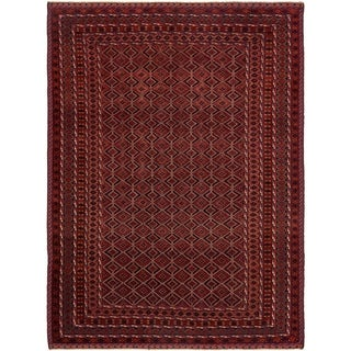 Hand Knotted Sumak Wool Area Rug - 6' 7 x 9'