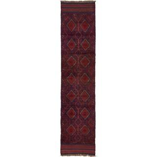 Hand Woven Sumak Wool Runner Rug - 2' x 8' 7