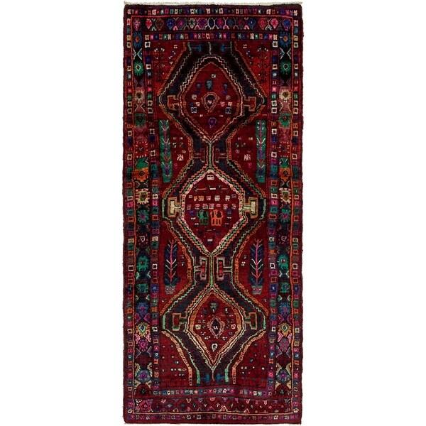 Hand Knotted Sirjan Wool Runner Rug - 4' 3 x 9' 11