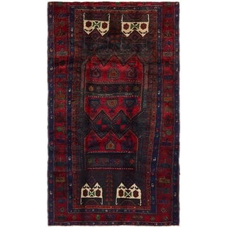 Hand Knotted Sirjan Semi Antique Wool Area Rug - 4' 10 x 8' 7