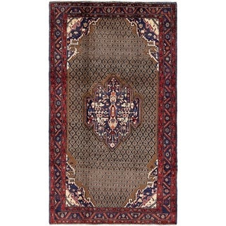 Hand Knotted Songhor Semi Antique Wool Area Rug - 5' 6 x 9' 8