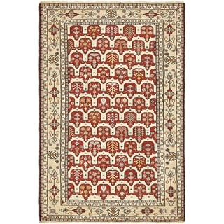Hand Knotted Sirjan Wool Area Rug - 4' 3 x 6' 4