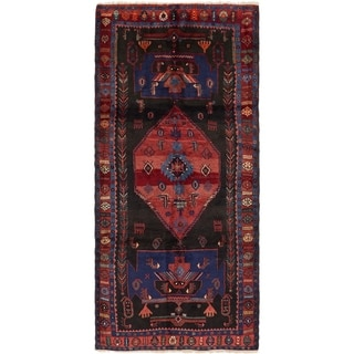 Hand Knotted Sirjan Semi Antique Wool Runner Rug - 3' 9 x 8' 8
