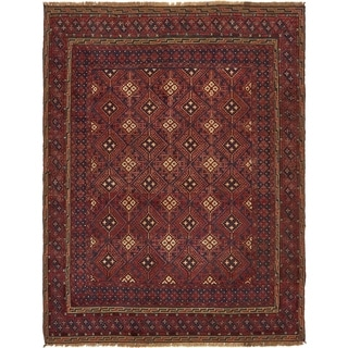 Hand Knotted Sumak Wool Area Rug - 4' 9 x 6' 5