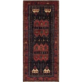 Hand Knotted Sirjan Semi Antique Wool Runner Rug - 5' x 11'