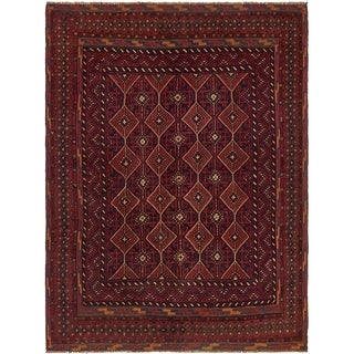 Hand Knotted Sumak Wool Area Rug - 4' 8 x 6' 2