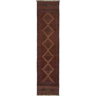 Hand Woven Sumak Wool Runner Rug - 1' 10 x 7' 10