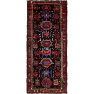 Hand Knotted Sirjan Semi Antique Wool Runner Rug - 5' x 11' 5