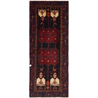 Hand Knotted Sirjan Semi Antique Wool Runner Rug - 4' 2 x 10' 6