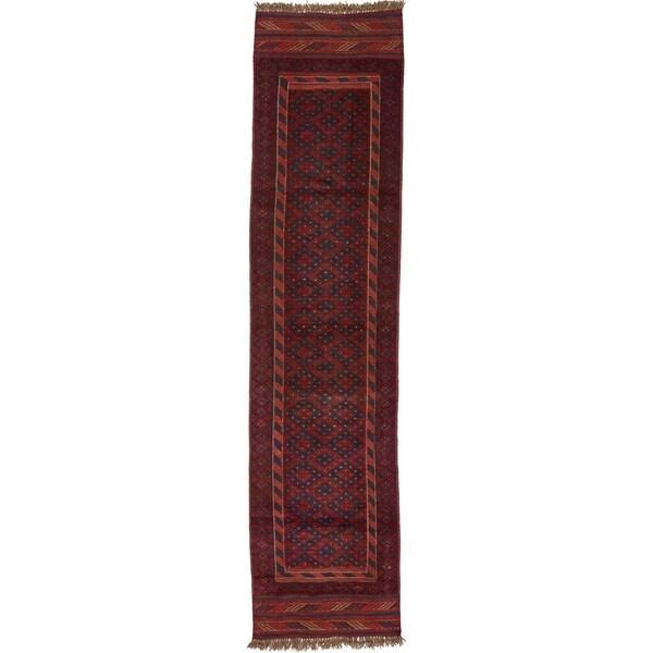 Hand Woven Sumak Wool Runner Rug - 1' 10 x 7' 11